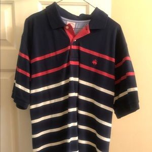 Men's Brooks Brothers sz L like new polo navy/red